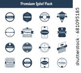 premium quality and guarantee... | Shutterstock . vector #681095185
