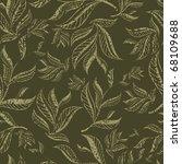 seamless green floral pattern... | Shutterstock .eps vector #68109688