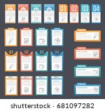 set of infographic templates... | Shutterstock .eps vector #681097282