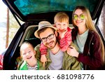 family going on a car trip | Shutterstock . vector #681098776