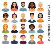 super set of cartoon characters.... | Shutterstock .eps vector #681100426