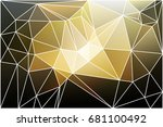 black gray yellow white... | Shutterstock . vector #681100492