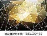 black gray yellow white... | Shutterstock . vector #681100492