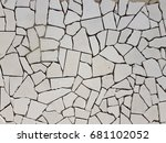 background of stone wall... | Shutterstock . vector #681102052