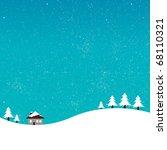 winter background | Shutterstock .eps vector #68110321