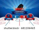 vector of ice hockey... | Shutterstock .eps vector #681106465