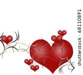 valentines day background   Shutterstock . vector #68110891