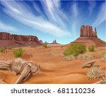 texas desert landscape...