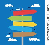 road signs   vector... | Shutterstock .eps vector #681121096