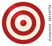 vector color flat target icon... | Shutterstock .eps vector #681144706