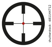 vector black optical sight aim... | Shutterstock .eps vector #681144712