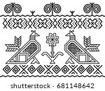 unique decoration of log houses ... | Shutterstock .eps vector #681148642