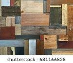 Modern Wall Of Wood Scraps ...