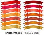 set of simple banners   basic... | Shutterstock .eps vector #68117458