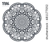vector indian mandala | Shutterstock .eps vector #681177052