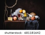 a classic still life in the... | Shutterstock . vector #681181642