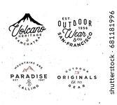 outdoor logo templates. simple... | Shutterstock .eps vector #681181996