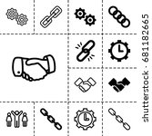 cooperation icon. set of 13... | Shutterstock .eps vector #681182665