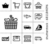commercial icon. set of 13... | Shutterstock .eps vector #681184096