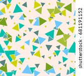 triangular geometric seamless... | Shutterstock .eps vector #681191152