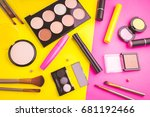 decorative cosmetic set on... | Shutterstock . vector #681192466