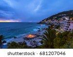 cape town clifton beach fire... | Shutterstock . vector #681207046