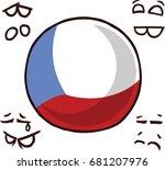 czech republic  country ball | Shutterstock .eps vector #681207976