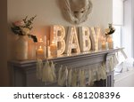 decoration for a baby shower... | Shutterstock . vector #681208396