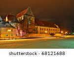 old cathedral - stock photo