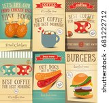 fast food and coffee posters... | Shutterstock .eps vector #681222712