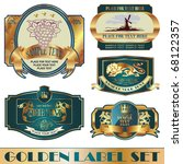 gold framed labels on different ... | Shutterstock .eps vector #68122357