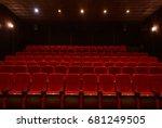 empty red cinema hall seats ... | Shutterstock . vector #681249505