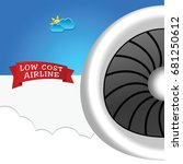 low cost airline icon... | Shutterstock .eps vector #681250612