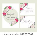 wedding floral template... | Shutterstock .eps vector #681252862