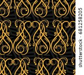 endless abstract pattern.... | Shutterstock .eps vector #681258205