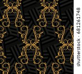 endless abstract pattern.... | Shutterstock .eps vector #681261748