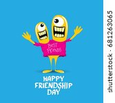 happy friends day background... | Shutterstock .eps vector #681263065