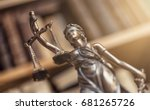 the statue of justice   lady... | Shutterstock . vector #681265726