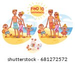find the 10 differences. happy... | Shutterstock .eps vector #681272572