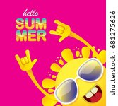 hello summer funky rock n roll... | Shutterstock .eps vector #681275626