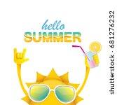 hello summer rock n roll vector ... | Shutterstock .eps vector #681276232