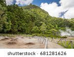 furnas lagoon geo thermal hot... | Shutterstock . vector #681281626