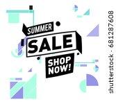 summer sale geometric style web ...   Shutterstock .eps vector #681287608