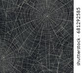 spider web vector illustration. ... | Shutterstock .eps vector #681292585