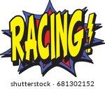 racing typographic illustration | Shutterstock .eps vector #681302152