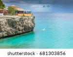 playa forti cliffs   ... | Shutterstock . vector #681303856