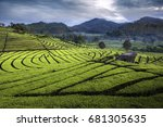 pangalengan is a district in... | Shutterstock . vector #681305635