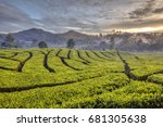 pangalengan is a district in... | Shutterstock . vector #681305638