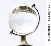 glass crystal globe | Shutterstock . vector #681307492