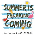 grunge summer t shirt design... | Shutterstock .eps vector #681323896